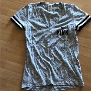 PINK heather grey T-shirt size large